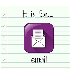 Flashcard letter E is for email vector image vector image