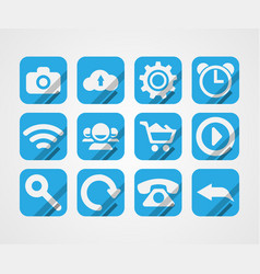 flat icons on white background vector image