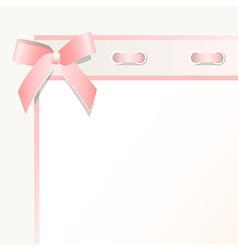 Frame with a bow vector