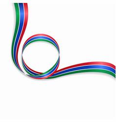 Gambian wavy flag background vector