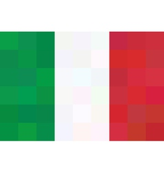 geometric background in Italy flag Unusual concept vector image vector image