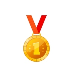Gold medal icon vector image vector image