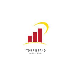 graphic chart logo vector image
