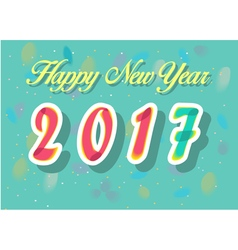 Happy new year 2017 watercolor numerals vector
