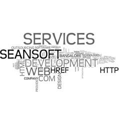 it services bangalore web development company vector image