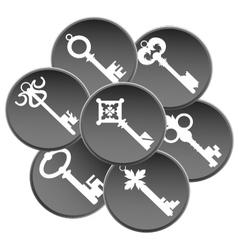 Key set silhouette vector