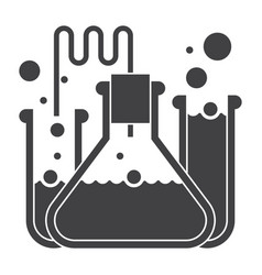 laboratory flasks icon vector image vector image