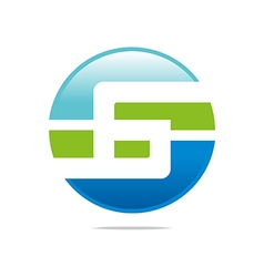 Logo circleletter g good style lettering vector