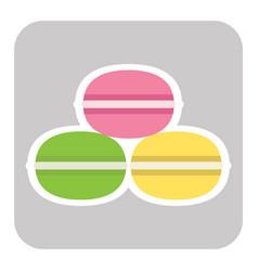 macaroon cookies flat design vector image vector image