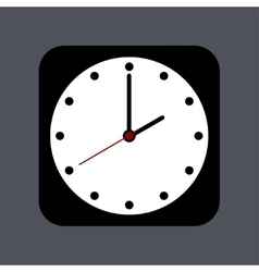 modern clock icon on gray vector image