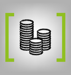 money sign black scribble vector image
