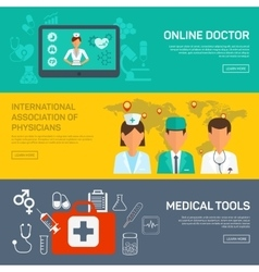 Online medical diagnosis and treatment vector image vector image
