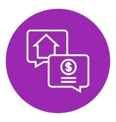 Real estate transaction line icon vector