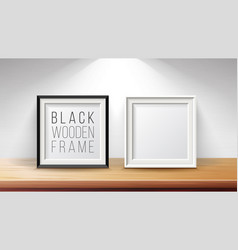 realistic blank picture frame set good for vector image vector image