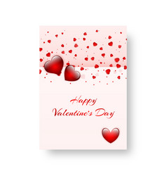 rectangular banner with scarlet hearts vector image