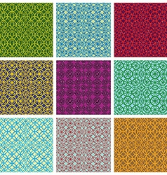 Retro style tiles seamless patterns set vector image vector image