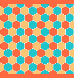 seamless honeycomb pattern hexagon texture vector image vector image