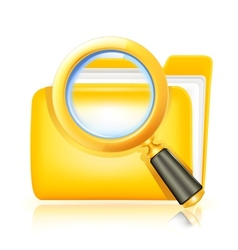 Search folder icon vector image vector image