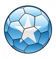somalia flag on soccer ball vector image vector image
