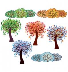 trees bush vector image