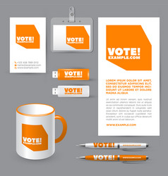 Vote logo emblem icon vector