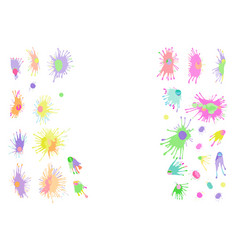 watercolor stains splashes and drops vector image vector image
