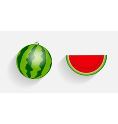 Watermelon Icons with Long Shadows vector image vector image