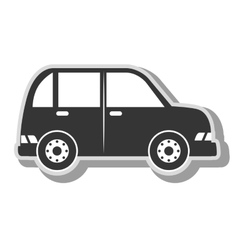 Minivan vehicle transport icon vector