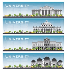 Set of university study banners vector