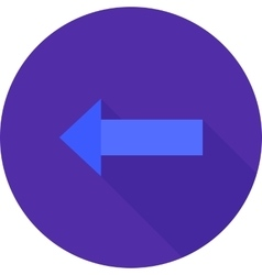 Left  arrow vector