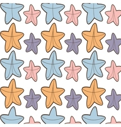 Ed starfish beach seamless pattern design vector