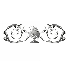Silver swirl ornament vector image