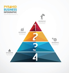 Pyramid geometric infographic template business vector
