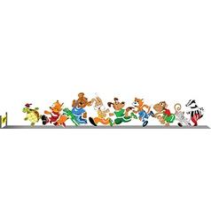 Animals running vector image