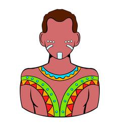 Australian aborigine icon cartoon vector