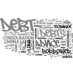 It s free and to your benefit debt advice text vector
