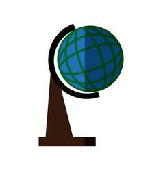 School globe world earth localitation map vector
