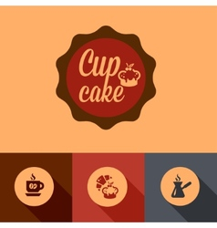 flat coffee design vector image
