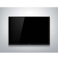 Tv screen on the wall background vector