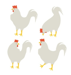 4 rooster vector image vector image
