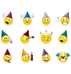 Smiles party vector image