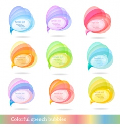 Group of colorful speech bubbles vector