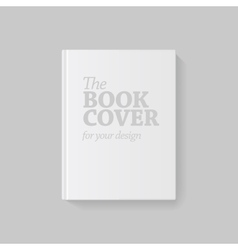 Light realistic blank book cover vector