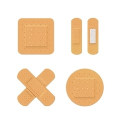 Bandage plaster aid band medical adhesive vector