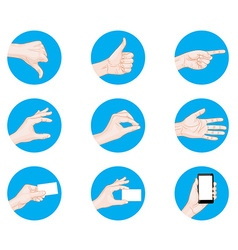 Business hand gestures icon vector