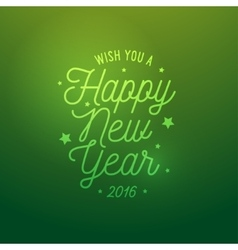 Happy new year light green background card vector
