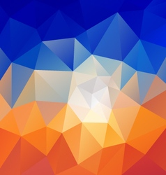 Desert blue sky polygon triangular pattern vector