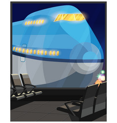 airliner at night vector image vector image