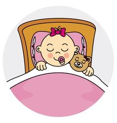 Baby girl sleeping vector image vector image