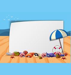 Beach scene poster vector